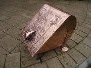 Arts & Crafts Glasgow school log bin
