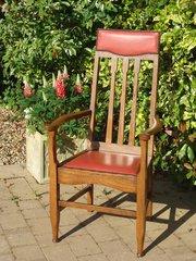 Arts & Crafts Glasgow school high back chair