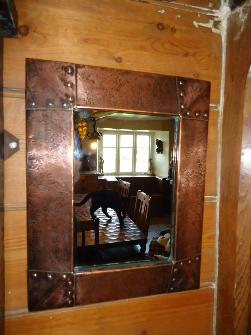 Arts and crafts mirrors - Arts Crafts Liberty Co Copper Mirror