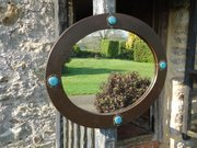 Arts & Crafts Liberty oval mirror with Ruskins