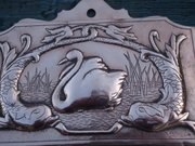 Arts & Crafts Newlyn copper letter holder