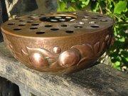 Arts & Crafts Newlyn copper rose bowl