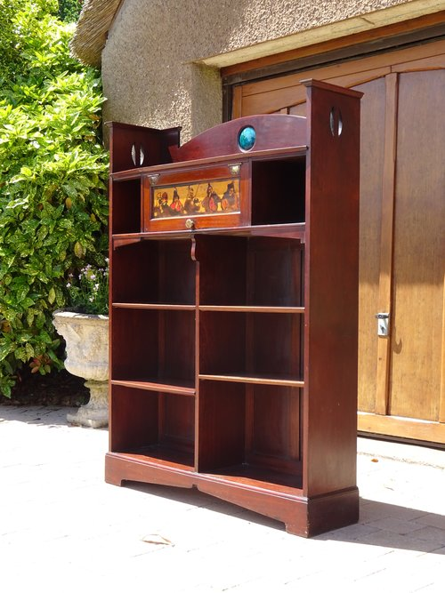 Arts & Crafts Shapland & Petter mahogany bookcase