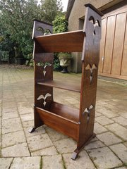Arts & Crafts book stand with piercings