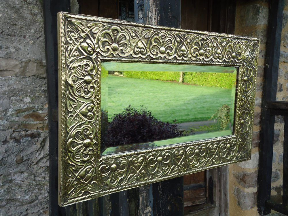 Antiques Atlas Arts Amp Crafts Brass Mirror Or Overmantle