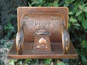 Arts & Crafts copper Pool of Hayle inkstand