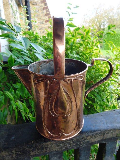 Arts & Crafts copper jug. J & F Pool