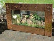 Arts & Crafts copper over mantle