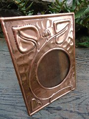 Arts & Crafts copper photo frame. F & J Pool