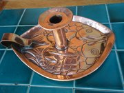 Arts & Crafts fish candle holder, Newlyn