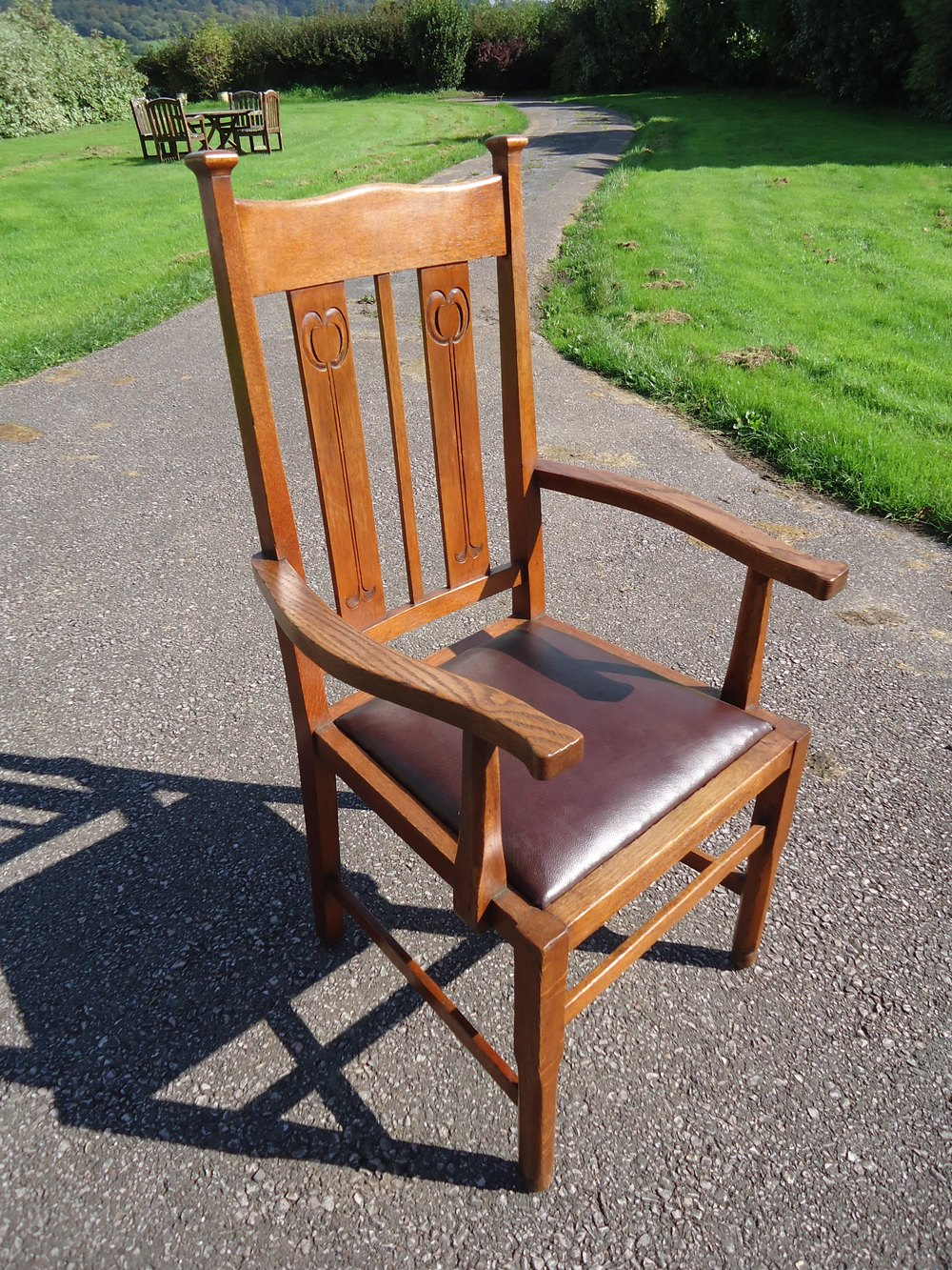 Oak Chairs With Arms ~ Arts crafts oak arm chair antiques atlas