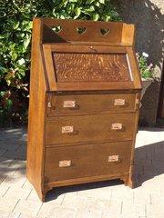 Arts & Crafts oak bureau for Liberty