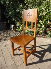 Arts & Crafts oak chair, W.J. Neatby