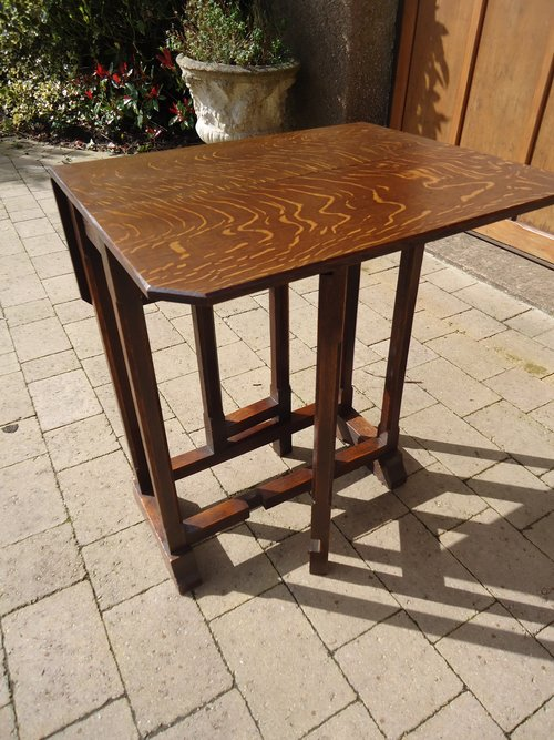 Arts Crafts Oak Drop Leaf Table Liberty Antiques Atlas