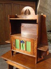 Arts & Crafts oak hanging cabinet, Liberty