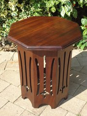 Arts & Crafts octagonal lamp table