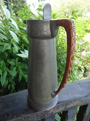 Arts & Crafts pewter hot water  jug for Liberty