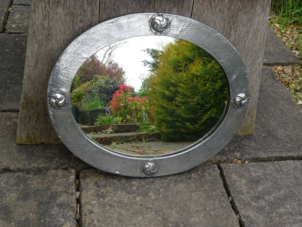 Antiques Atlas Arts Amp Crafts Pewter Mirror For Liberty