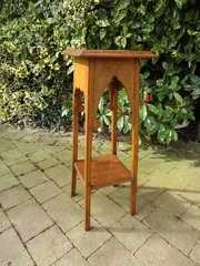 Arts & Crafts plant stand in the Moorish style