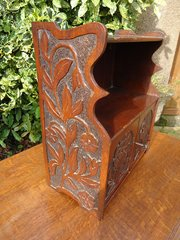 Arts & Crafts poker work wall cabinet