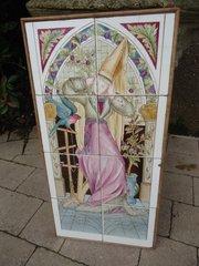 Arts & Crafts tiled panel, Henry Stacey Marks