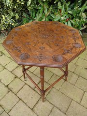 Anglo Indian  carved Arts & Crafts table