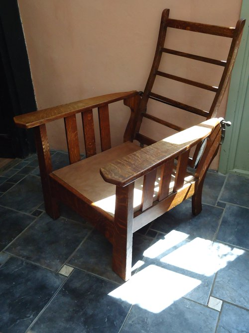 antique reclining chair fabulous arts amp crafts oak reclining chair antiques atlas 1296