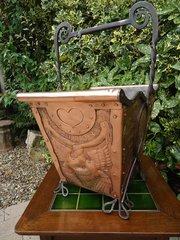 Fabulous Arts & Crafts log bucket - John Pearson