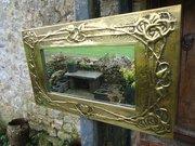 Gorgeous Arts & Crafts Glasgow school mirror