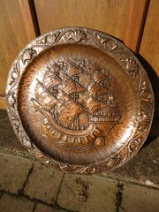 Huge 24 inch John Pearson copper charger