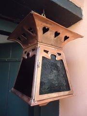 Impressive large copper hall lantern