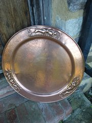 Large Arts & Crafts copper charger, Tray