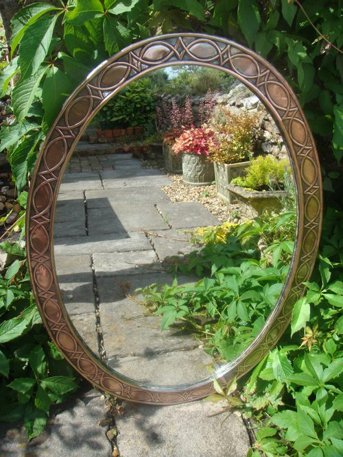 Antiques Atlas Large Arts Amp Crafts Copper Oval Mirror