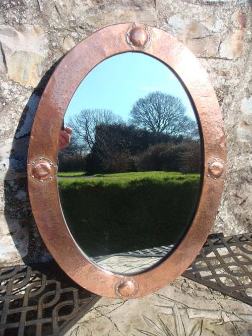 Antiques Atlas Liberty Arts Amp Crafts Copper Oval Mirror