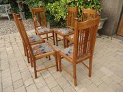Lovely set of 6 Arts & Crafts Liberty dining chair