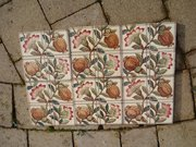 Lovely set of six floral tiles