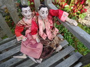 Rare Pair of Large Burmese Puppets