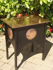 Rustic Arts & Crafts copper lidded work table