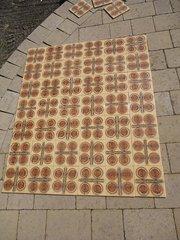Set of 42 Retro 1970's Spanish tiles