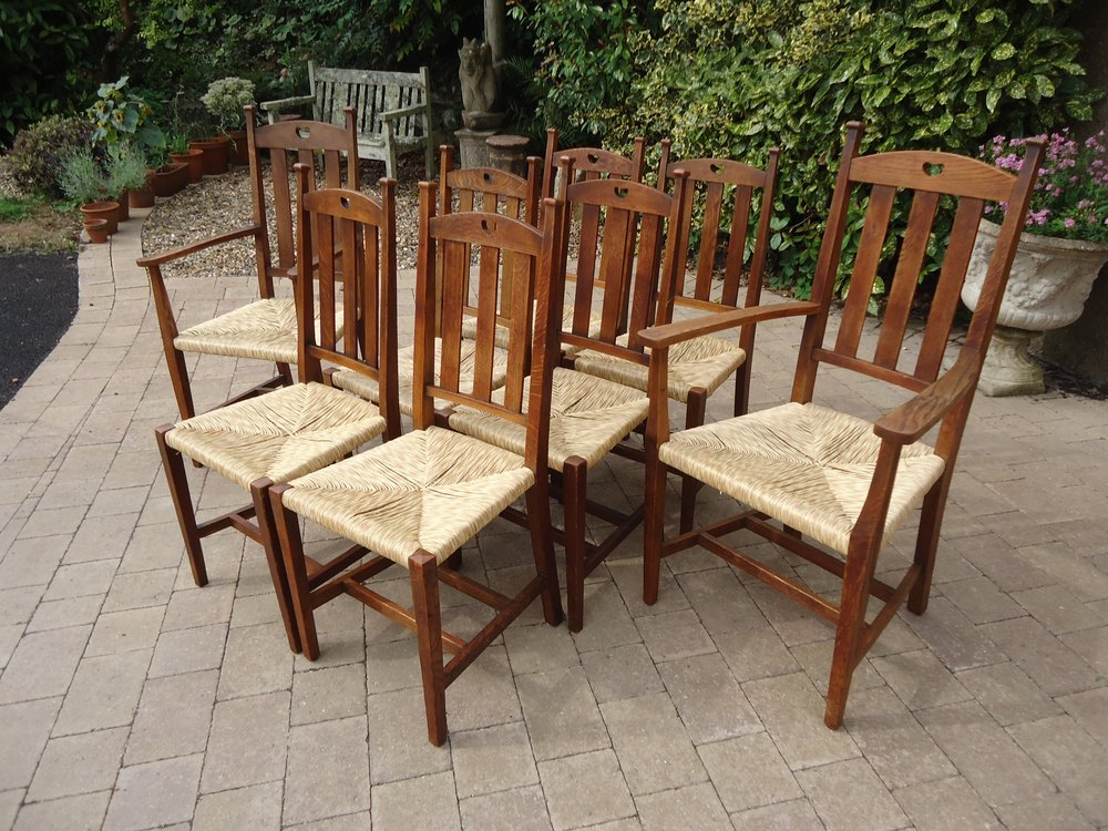 Liberty Arts Crafts Oak Carver Chairs