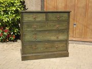 Shapland & Petter green chest of drawers