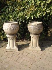 Stunning Pair of Arts & Crafts Lefco jardinieres