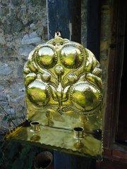 Stunning pair of Brass Arts & Crafts sconces