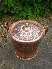Stunning Arts & Crafts lidded bucket - Keswick