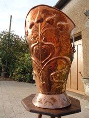 Stylish Arts & Crafts Newlyn school coal bucket
