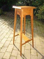 Tall Arts & Crafts oak plant stand