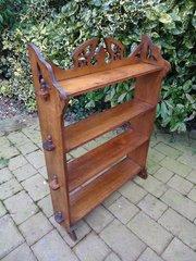 Unusual Arts & Crafts oak pegged bookcase