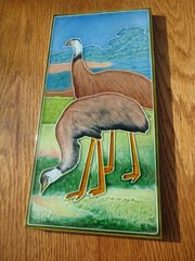 Unusual Arts & Crafts tile with two birds