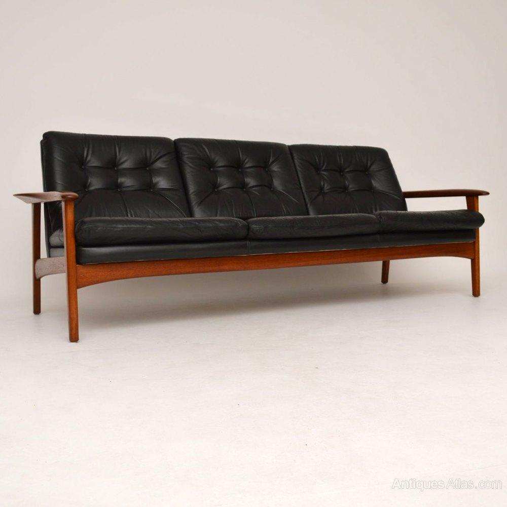 Retro Leather Sofas Danish 64 Sofa By Gustav