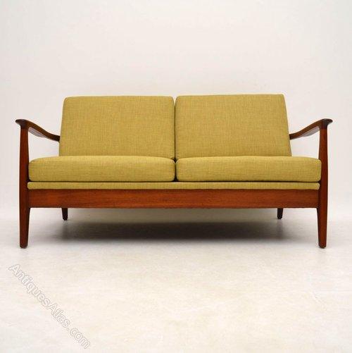 antiques atlas danish teak retro two seat sofa vintage
